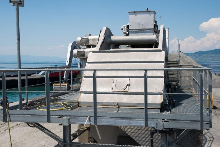 Sagrave SA, Le Bouveret, Erneuerung Werkbeschickung, Entwässerung Siebmaschine