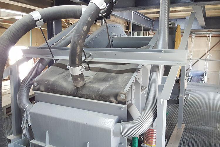 Sables et Graviers Tuffière SA, Posieux, Vorwaschanlage Umbau Splittseite, Entwässerungsmaschine