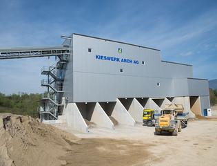 Kieswerk Arch AG, Arch, Neubau Kieswerk
