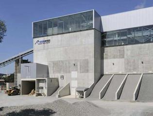 Aarekies-Olten AG, Olten, Buchs, Neubau Kieswerk, Aufbereitungsgebäude